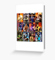 Mortal Kombat 2 SNES Character Portraits Greeting Card