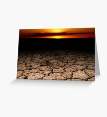 Parched Earth at Sunset Greeting Card