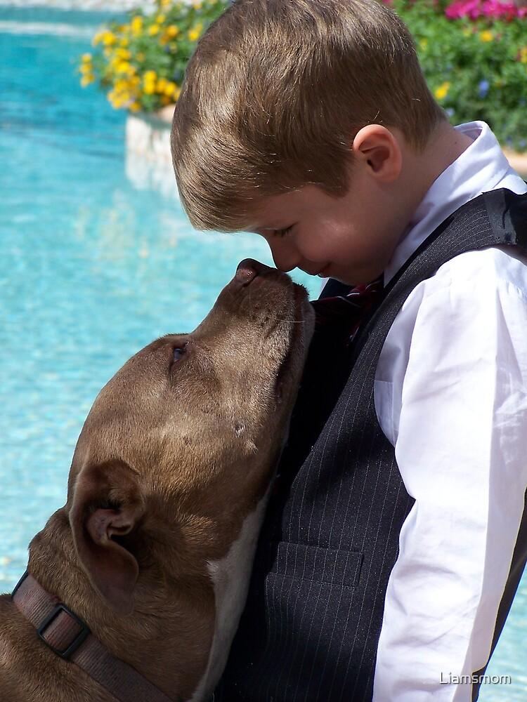 A boy and his dog by Liamsmom