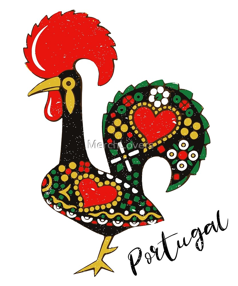 Galo De Barcelos Portuguese Rooster By Merchlovers Redbubble