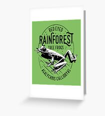 Rainforest Red Eyed Tree Frog Iconic Design Greeting Card