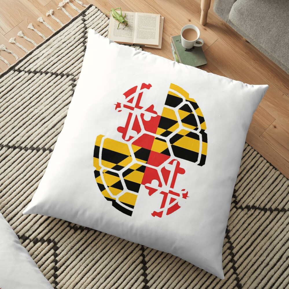 Maryland Flag Shell Bodenkissen