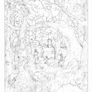 pencil rendering of The Dark Forest by tofnewrealm