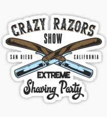 Crazy Razor Show Sticker