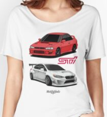 STi (red & white) Women's Relaxed Fit T-Shirt