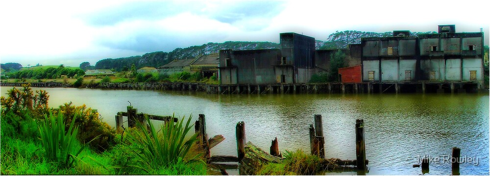 Old Patea Wharf by Mike Rowley