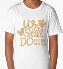Oak Wedding Anniversary Tee Eighty Years of Marriage Matching T-shirt, Phone Cases And Other Gifts Long T-Shirt