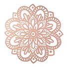 Rose Gold Flower Mandala by julieerindesign