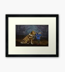 Dog & Child Framed Print