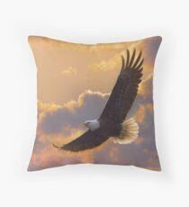 "Bald Eagle ""Soaring Spirit"" Throw Pillow"