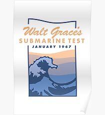 Walt Grace's Submarine Test X Emoji of a Wave | Poster Poster