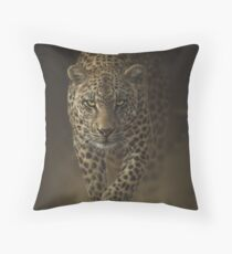 """Leopard Prowling """"Savage"""" Throw Pillow"""