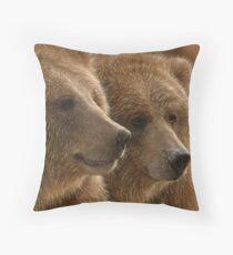 "Brown Bears ""Lazy Daze"" Throw Pillow"