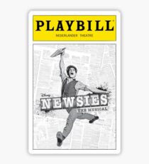 Newsies Playbill Sticker