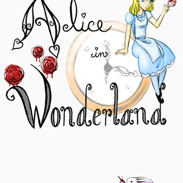 Alice in Wonderland Playbill Cover by LiliumOfChaos