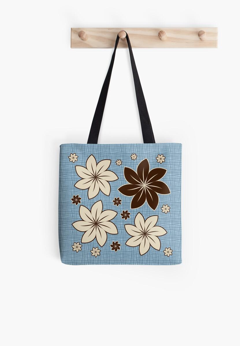 Floral design on blue by Gaspar Avila