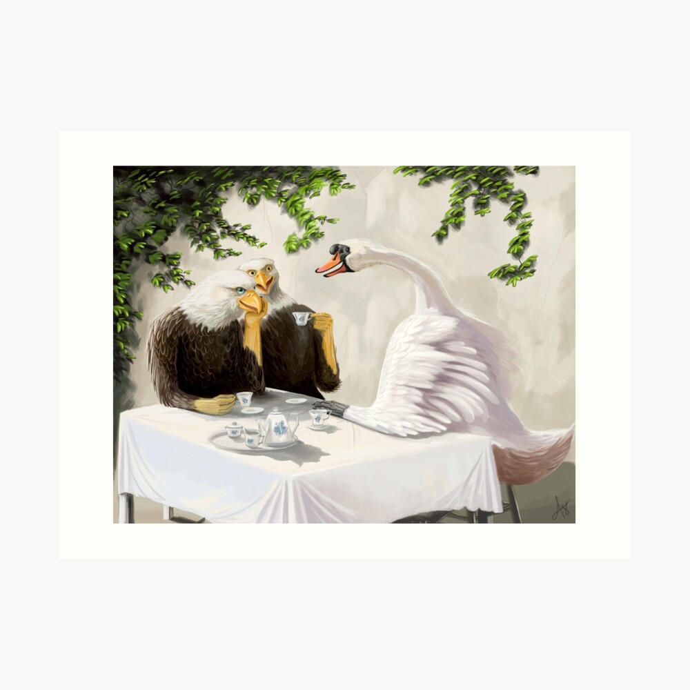 Tea Time with American Friends Art Print