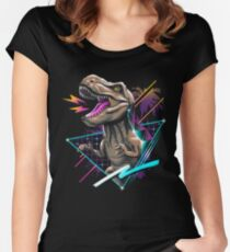 Rad T-Rex Women's Fitted Scoop T-Shirt