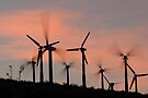 Windmills of the Palm Springs Pass by photosbyflood