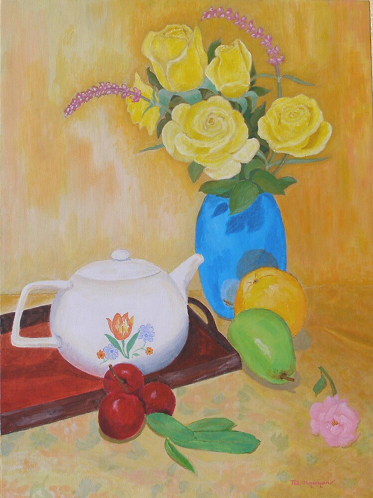 Roses and Fruits No 4 by Thi Nguyen