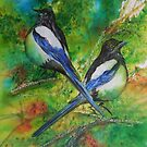Two for Joy, Magpies by Sheila Fielder