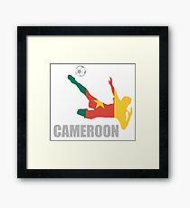 Soccer Football Cameroonian Flag Framed Print
