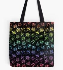Bolsa de tela D20 Dice Set Pattern (Rainbow)