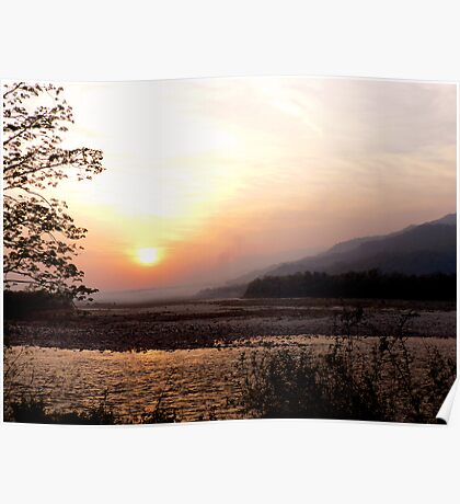 Where the Himalayan foothills meet the jungles of India Poster