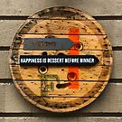 Happiness is Dessert Before Dinner - Vintage Wood Sign by Bruno Beach
