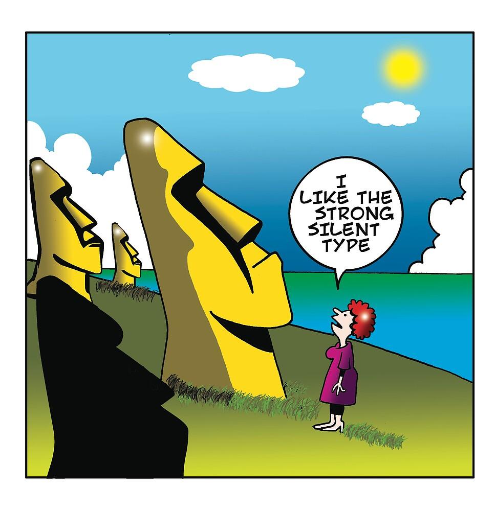 Easter island by Mark  Lynch