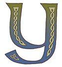 Celtic Knotwork Alphabet - Letter Y by Carrie Dennison