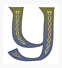 Celtic Knotwork Alphabet - Letter Y Photographic Print