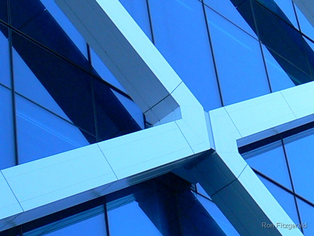 Blue X  by Ron Fitzgerald