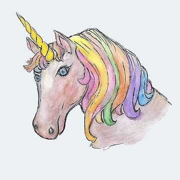 Unicorn in watercolour  by Hummingbirdnz