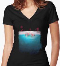Bikini Strand Shirt mit V-Ausschnitt