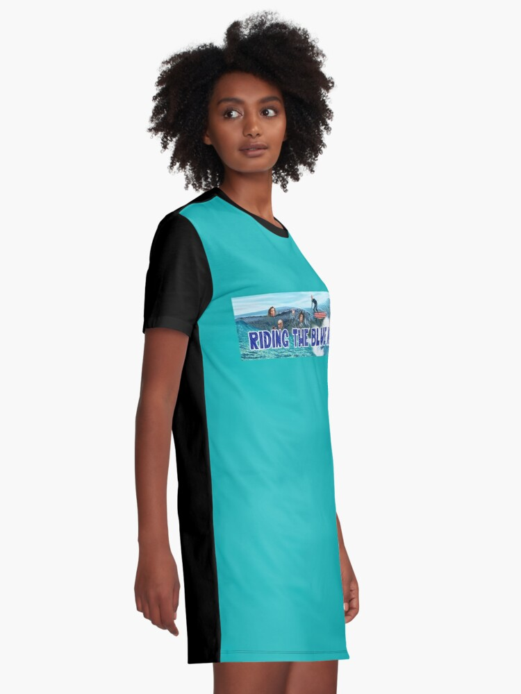 Alternate view of Riding the Blue Wave Graphic T-Shirt Dress