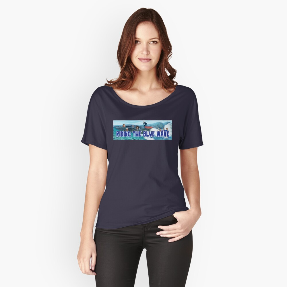 Riding the Blue Wave Relaxed Fit T-Shirt