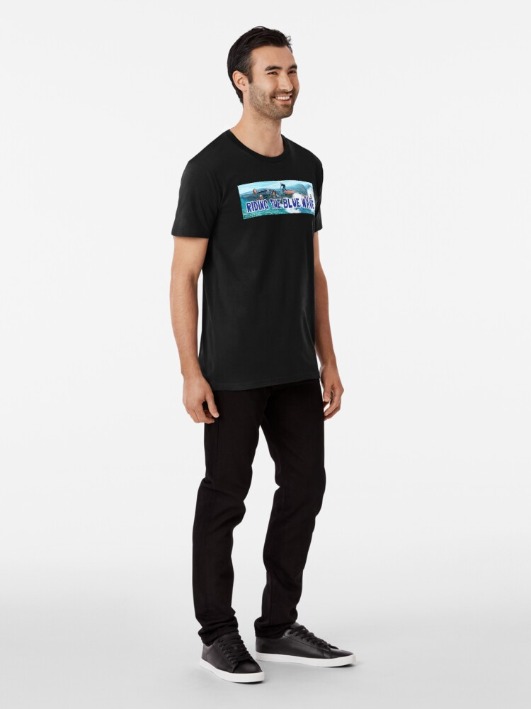 Alternate view of Riding the Blue Wave Premium T-Shirt