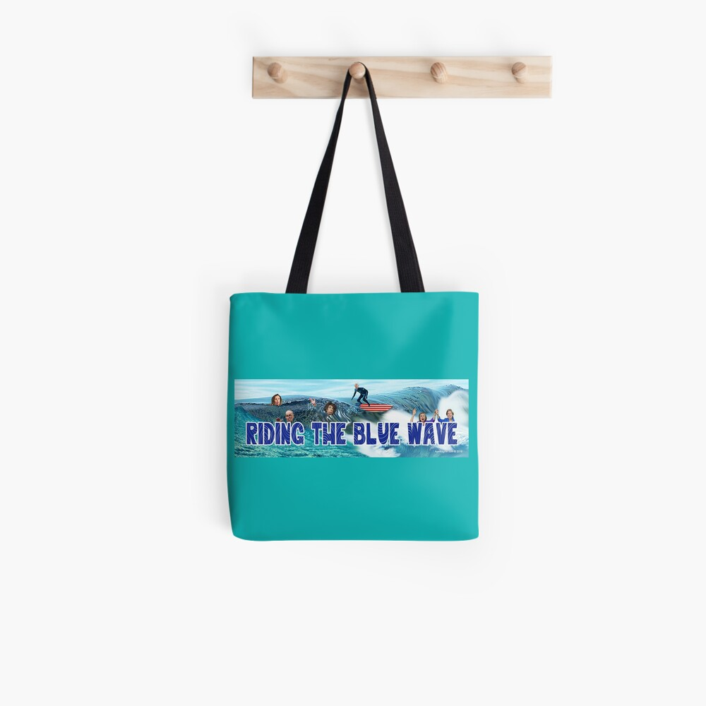 Riding the Blue Wave Tote Bag