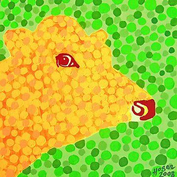 The Orange Cow by hoganartgarage