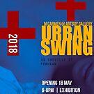 Urban Swing Exhibition Poster (satirical alternative) by MAGDALENE CARMEN