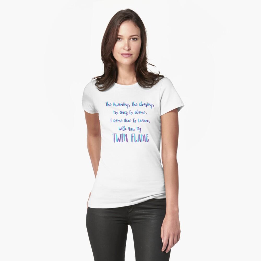 Zwillingsflammenunterricht Tailliertes T-Shirt