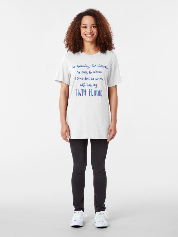Alternative Ansicht von Zwillingsflammenunterricht Slim Fit T-Shirt