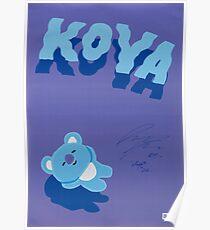 BT21 - KOYA (SIGNED VER.) Poster