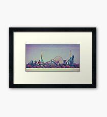 Cedar Point Skyline Framed Print