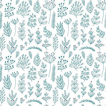 Foliage doodle pattern by sobakapavlova
