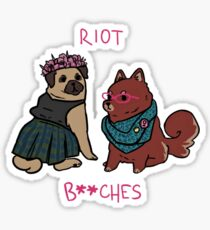 Riot Grrrrl Pooches  Sticker