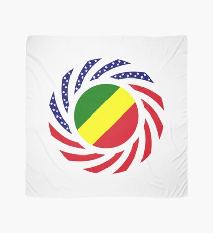 Congolese American (Republic of) Multinational Patriot Flag Series Scarf