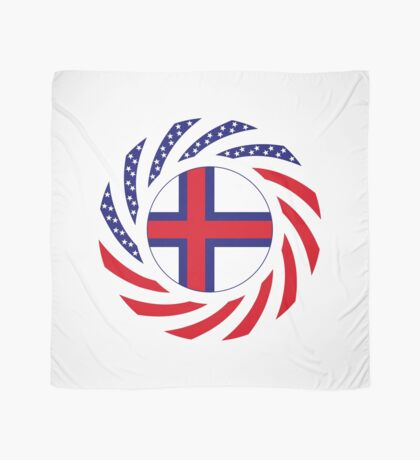 Faroe Islands American Multinational Patriot Flag Series Scarf