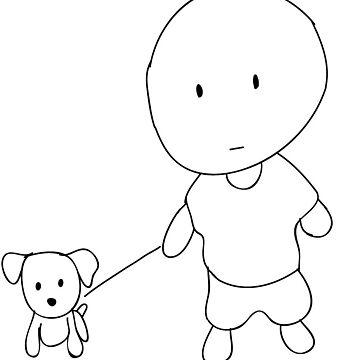 Cute cartoon boy and dog by HforKevin
